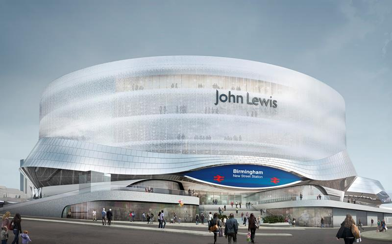 birmingham new street artists impression john lewis