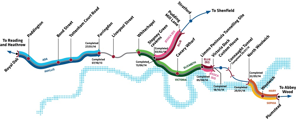 Crossrail tunnel progess