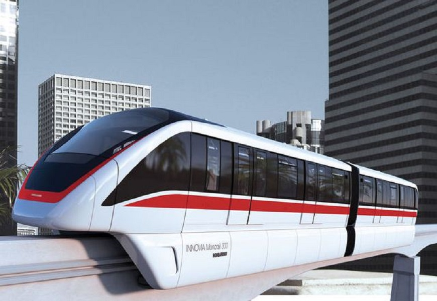 The award winning BOMBARDIER INNOVIA Monorail 300 system