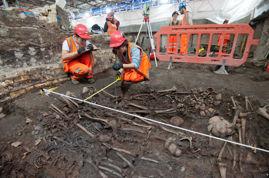 Bedlam burial ground at Crossrail's Liverpool Street