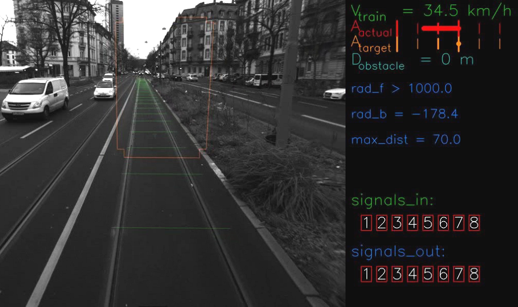 The DAS gives trams drivers advanced warning of a potential impact with objects obstructing the tram tracks
