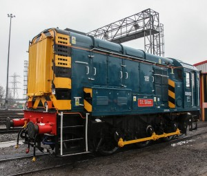 Great Bristish railway Train Named after Royal Bristish Legion branch St Silas. St Phillip Marsh Train Depot, Bristol, Britain. Arpil 11 2016