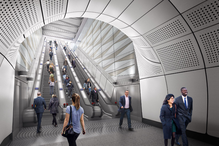 Liverpool Street station proposed escalator at Moorgate ticket hall