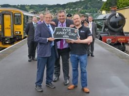 Left to Right, WSR Chairman John Irven; GWR Partnerships Manager David Gardner and Visit Somerset Chief Executive John Turner
