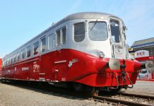 Silver Arrow railcar at the Czech Raildays