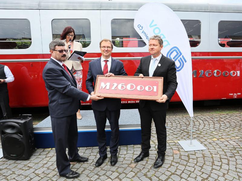 Silver Arrow railcar at the Czech Raildays  1