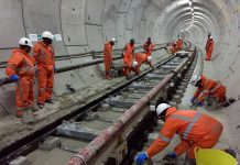 Crossrail railway systems: Track installation between Royal Oak Portal and Bond Street