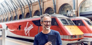 Virgin Trains today unveiled David Baddiel as its new 'Summer Author'