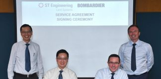 Bombardier and ST Engineering sign framework agreement to build Singapore Service Centre